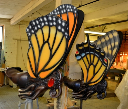Different butterflies with different shapes and coloration