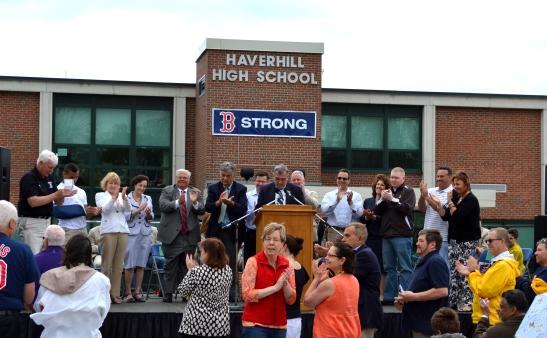 DSC_0152 Haverhill blog HHS group shot applauding