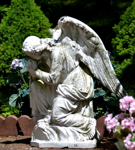 Angel in garden