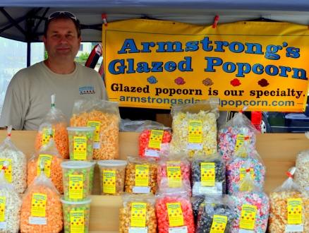 It may not be fresh fruit, but Armstrong's Glazed Popcorn offers caramel apply flavored corn