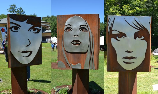 Triangular Triptych that rotates by dale Rogerrs at the League of NH Craftsmen's Fair