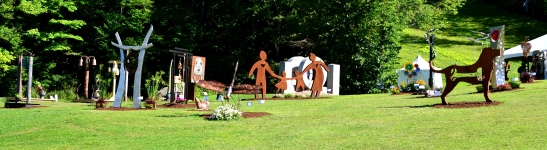 Sculpture park at League of NH Craftsmen's Fair