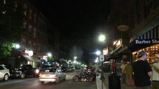 Washington Street on a summer night