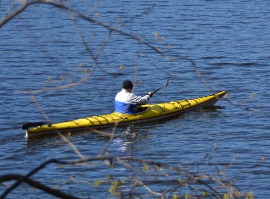 Kayaker on the Merrimack River Haverhill