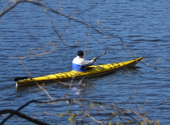Early spring paddle by Riverside Park, Lincoln Ave Haverhill requires hat and gloves