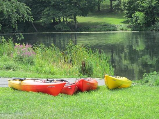 Rentable  kayaks at Haverhill's Plug Pond/Lake Saltonstall available from Plum Island Kayaks