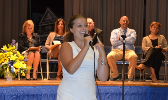 Taylour House NHS Inductee and talented singer