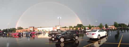 Double rainbow photo by HHS senior Alexandra Caruso
