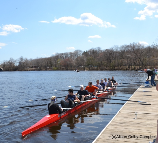 The first time Haverhill Crew team is on the water.