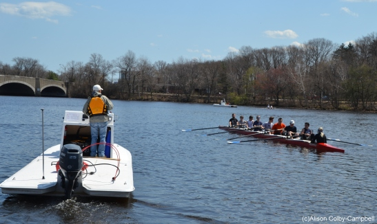 Crewing on the Charles River!!!