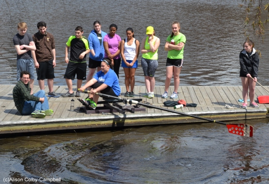 If you're not in the boat, you're practicing on the dock