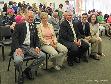 Representing the state Dennis Marcello from State Senator Kathleen O'Connor Ives office, the school committee Gail Sullivan, Pentucket Bank Scott Cote and city council Andy Vargas, Melinda Barrett