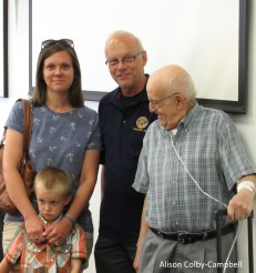 Four generations of Carbones: Carolyn Carbone Leverett with son Parker, Peter Carbone and Atillio Carbone