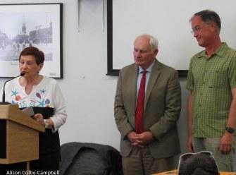 NECC representatives Jean Poth VP Advancement, George Moriarty & Joseph Leblanc professor