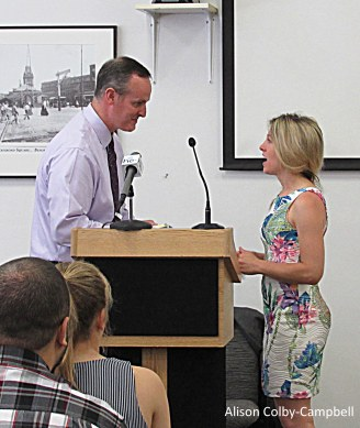 Tim Jordan and Lindsay Paris from HC Media and the Haverhill Journal program