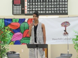HCC Chair Letriah Masters addresses the crowd
