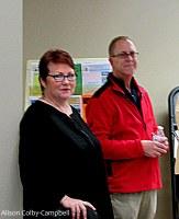 City Councilor Tom Sullivan w City Clerk Linda Koutoulas
