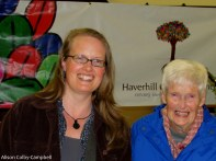 Savor Haverhill's Suzanne proudly accompanied by her mom