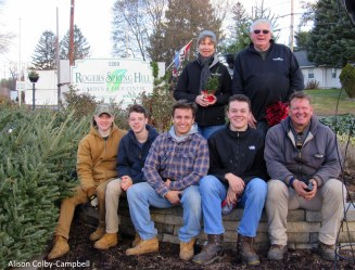 Some of the Rogers Spring Hill crew that helps with Christmas tree sales